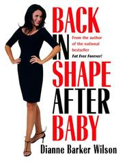 Cover of: Back in Shape After Baby by Dianne Barker Wilson