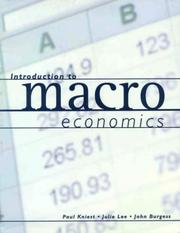 Cover of: Introduction to Macroeconomics by Paul Kniest