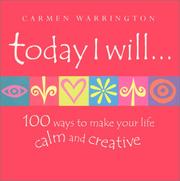 Cover of: Today I Will | Carmen Warrington