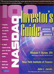 Cover of: NASDAQ-100 Investor's Guide 2002-2003 (Nasdaq 100 Investor's Guide) by Michael P. Byrum