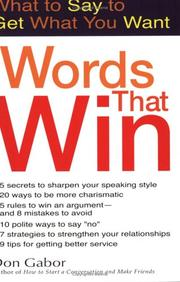 Cover of: Words That Win by Dan Gabor