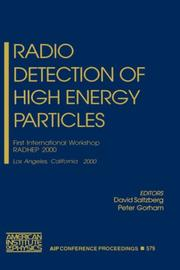 Cover of: Radio Detection of High Energy Particles | D. Saltzberg