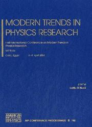 Cover of: Modern Trends of Physics Research by Lotfia M. El Nadi