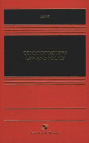 Cover of: Communications Law and Policy | Jerry Kang