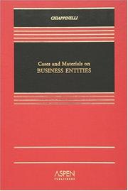 Cover of: Business Entities by Eric Chiappinelli