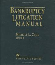 Cover of: Bankruptcy Litigation Manual by Michael L. Cook