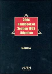 Cover of: Handbook of Section 1983 Litigation by David W. Lee
