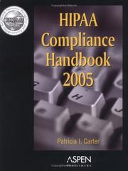 Cover of: HIPAA Compliance Handbook by Aspen Publishers