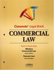 Cover of: Commercial Law by Casenotes