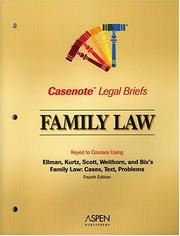 Cover of: Casenote Legal Briefs by Casenotes