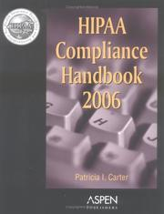 Cover of: HIPAA Compliance Handbook 2006 by Patricia I. Carter