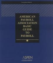 Cover of: American Payroll Association Basic Guide to Payroll by Joanne Mitchell-George