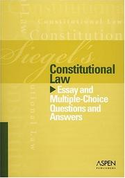 Cover of: Constitutional Law by Brian N. Siegel