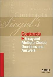 Cover of: Siegel's Contracts (Siegel's) by Brian N. Siegel
