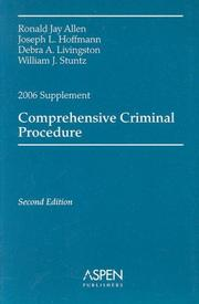 Cover of: Comprehensive Criminal Procedure, 2006 by Ronald Jay Allen