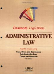 Cover of: Administrative Law | Casenotes