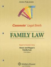 Cover of: Casenote Legal Briefs Family Law | Casenotes