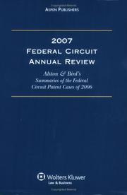 Cover of: Federal Circuit Annual Review | Alston & Bird