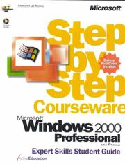 Cover of: Microsoft  Windows  2000 Professional Step by Step Courseware Expert Skills Color Class Pack by ActiveEducation