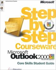 Cover of: Microsoft Outlook 2000 Step by Step Courseware Core Skills Student Guide (w/CD-ROM) by ActiveEducation