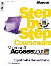 Cover of: Microsoft  Access 2000 Step by Step Courseware Expert Skills Class Pack by ActiveEducation