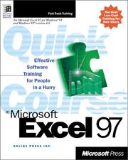 Cover of: Quick Course(r) in Microsoft(r) Excel 97 by Online Press Inc.