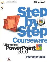 Cover of: Microsoft  PowerPoint  2000 Step by Step Courseware Trainer Pack (Construction Law Library) by Perspection