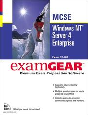 Cover of: Windows Nt Server 4 Enterprise McSe Examgear (New Riders Exam Gear) by New Riders Development
