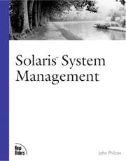 Cover of: Solaris System Management (New Riders Professional Library) by John Philcox