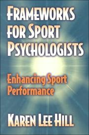 Cover of: Frameworks for Sport Psychologists by Karen Lee Hill