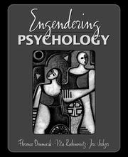 Cover of: Engendering psychology | Florence Denmark