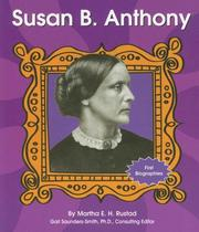 Cover of: Susan B. Anthony | Martha E. H. Rustad