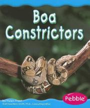 Cover of: Boa Constrictors (Rain Forest Animals) by Helen Frost