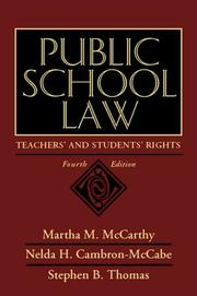 Cover of: Public school law | Martha M. McCarthy