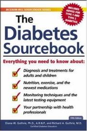 Cover of: The Diabetes Sourcebook by Diana W. Guthrie