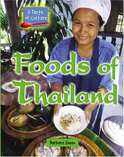 Cover of: Foods of Thailand (A Taste of Culture) | Barbara Sheen