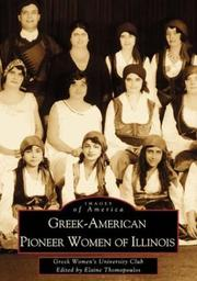 Cover of: Greek-American Pioneer Women of Illinois | Elaine Cotsirilos, Ph.D. Thomopoulos