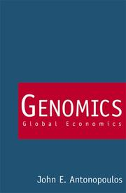 Cover of: Genomics | Iōannēs E. Antōnopoulos