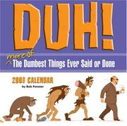 Cover of: Duh! by Bob Fenster