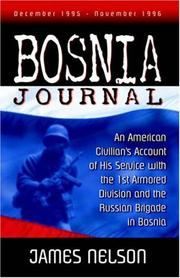 Cover of: Bosnia Journal by James Nelson