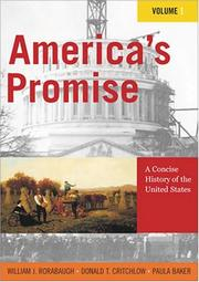 Cover of: America's promise | W. J. Rorabaugh