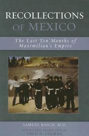 Cover of: Recollections of Mexico | Samuel M. Basch