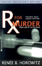 Cover of: Rx for Murder (RX) | Renee B. Horowitz