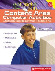 Cover of: 32 Quick & Fun Content Area Computer Activities Gr. 5 | Miriam Myers