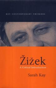 Cover of: Zizek by Sarah Kay