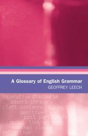 Cover of: A Glossary of English Grammar by Geoffrey N. Leech