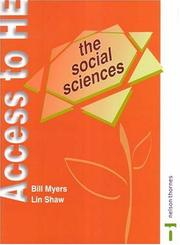 Cover of: The Social Sciences (Access to Higher Education Series) | Bill Myers