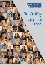 Cover of: Who's Who in Retailing | Verdict Research Limited
