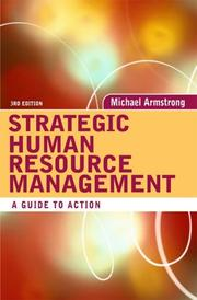 Cover of: Strategic human resource management | Michael Armstrong