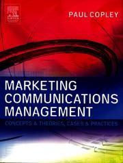 Cover of: Marketing Communications Management | Paul Copley